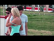 very cute young girl risky public gangbang threesome.