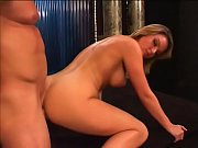 Lucky dude put the hard word on pretty blonde pole dancer with big juggs