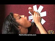 Ebony slut swallows cum sucking cardboard box gloryhole dick 13