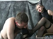 Mistress completely dominates her slave turned worthless dog