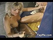 hot milf gives head to two.