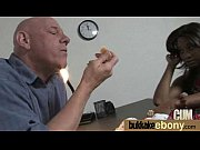 Ebony chick fucked hard in group sex action 14