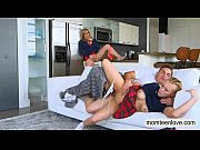cory chase and bailey brookes threesome on the couch