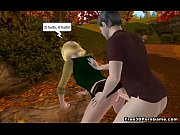 Tasty 3D cartoon blonde babe getting double teamed