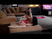 flexible girl loves her dildo