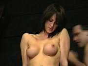 Busty british Danii Black pussy tormented and tit whipped in the dungeon of extr