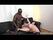 Brunette wife Lena Dark black cock in ass