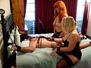 Guy dominated by two mistress on green vellux blanket pt 2