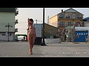 nude and barefoot in public