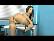buztanut.com - gorgeous brunette in white satin panties teasing