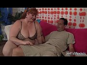 Horny Redhead BBW Julie Ann More gets her pussy reamed.