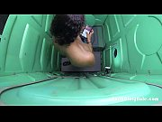 Porta Potty Gloryhole black girl Swallows