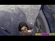 Ava started sucking cock at the parking