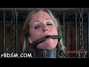 Gagged hotty with legs spread wide receives toy gratifying