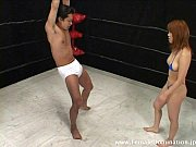 Mistress kicks slave'_s balls nonstop while in the ring