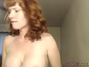 sexy wife touches her smooth pussy in private.