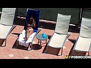 Sunbathing latina fucks white guy 1