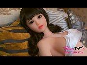 Busty teen sex doll brunette