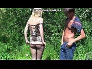 blonde in pantyhose fuck in the park in.