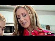Stepmom Julia Ann teaches teen to suck and fuck cock Thumbnail