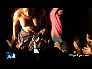 Telugu whores dancing nude on stage and allowing the crowd to feel tits