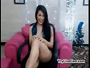 Sexy brunette shows feet at TryLiveCam.com