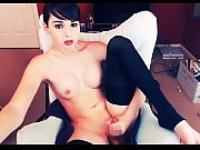 Cute and very sexy webcam TGirl Jerking Off