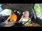 fake driving school big tits blonde gets fucked.