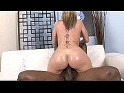 Blonde slut with a phat ass Sara Jay sucks off hung black stud then gets fucked