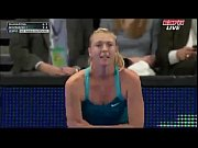 maria sharapova dances with a spectator bnp paribas.