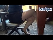 Ami female pee desperation &_ wetting her panties pants