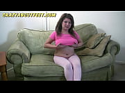 kelly rich, chubby teen girl plays with her.