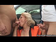 blonde granny double penetration in the.