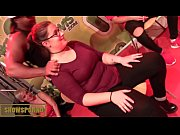 Funny show with hot french blonde and black monster dick