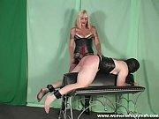 mature blonde spanking