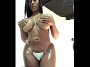 Moriah Mills body oiled