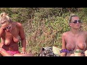 Two hot Swedish Girlfriends with big tits sunbathing topless