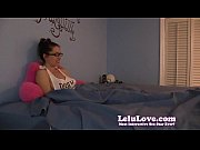 Shy nerdy girl masturbates under the sheets in pajamas