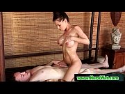 japanese busty masseuse gives nuru gel.