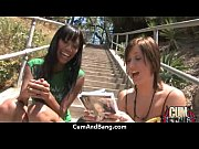 Ebony slut in an amazing gangbang 5 Thumbnail