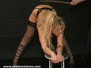 english caning and spanking of bruised blonde slavegirl.