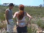 israeli girl redhead masturbates outdoors