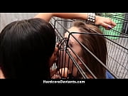 sexy teen lesbian caged rough fuck with toys.
