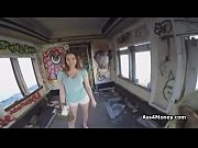 Abandoned railcar fucky sucky with busty teen