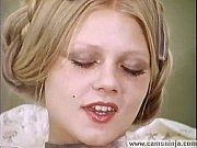 Hot blonde Anna Magle masturbates and cums in vintage porn