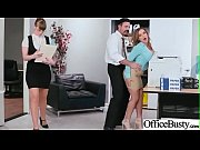 hardcore bang with horny big tits office girl.
