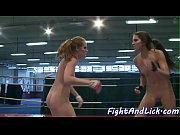 Amateur beauties pussylicking after wrestling