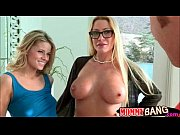 busty stepmom cherie deville sharing cock with teen.