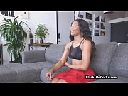 Assy black teen bouncing on white cock