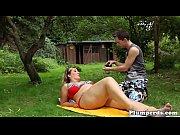 outdoor bikini plumper facesitting before bj
